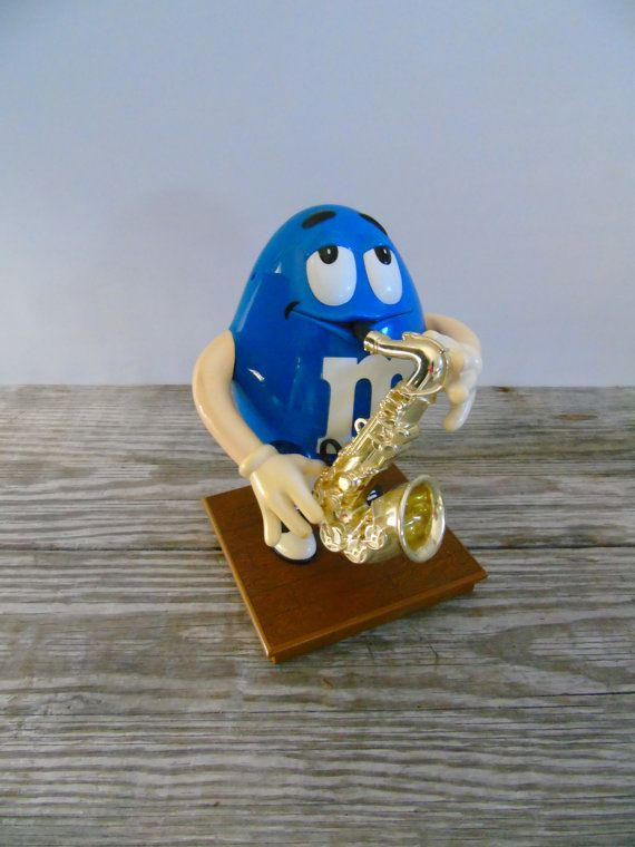 Blues Cafe Saxophone Player M&M Candy by 777VintageStreet on Etsy