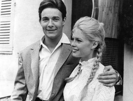 Jacques Charrier y Brigitte Bardot