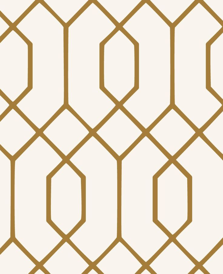 Geometric Hexagon Wallpaper - Gold - Peel and Stick