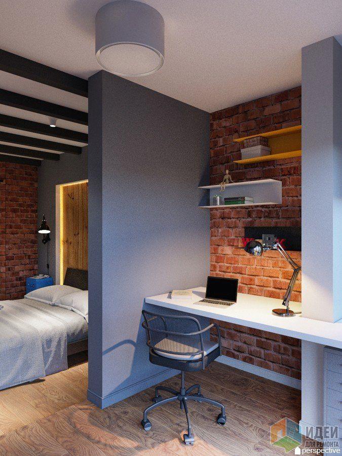 Кабинет при спальне, кабинет на балконе