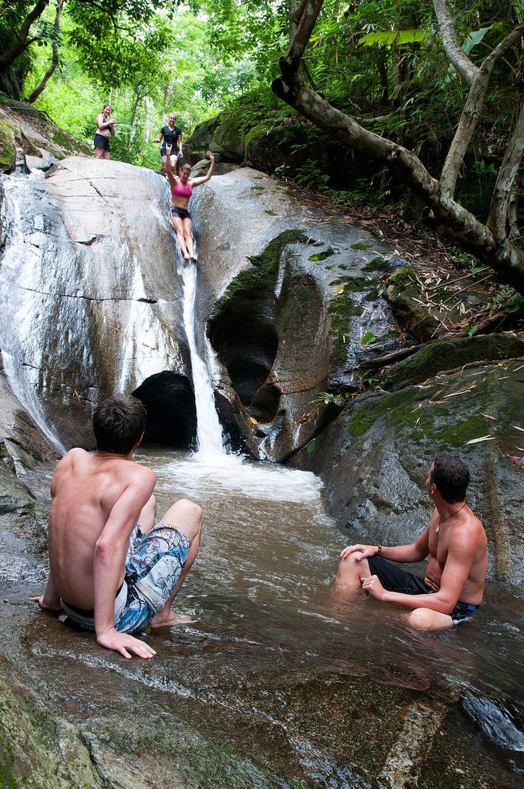 Natural Slide in Chiang Mai - Thailand Travel