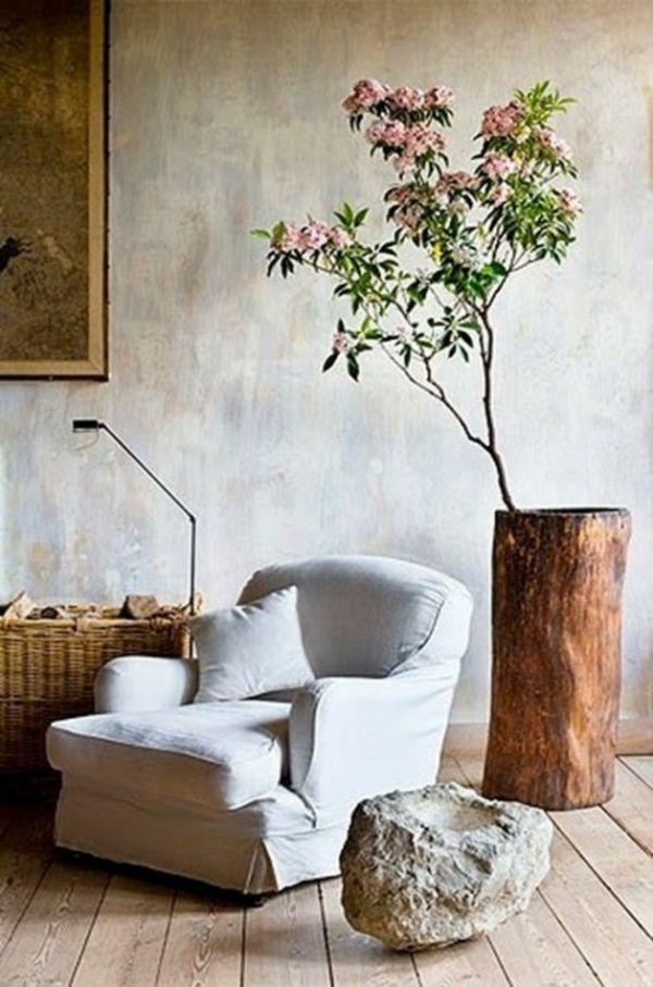 Die besten 25+ Baumstumpf Beistelltisch Ideen auf Pinterest - wohnzimmer deko selbst gemacht