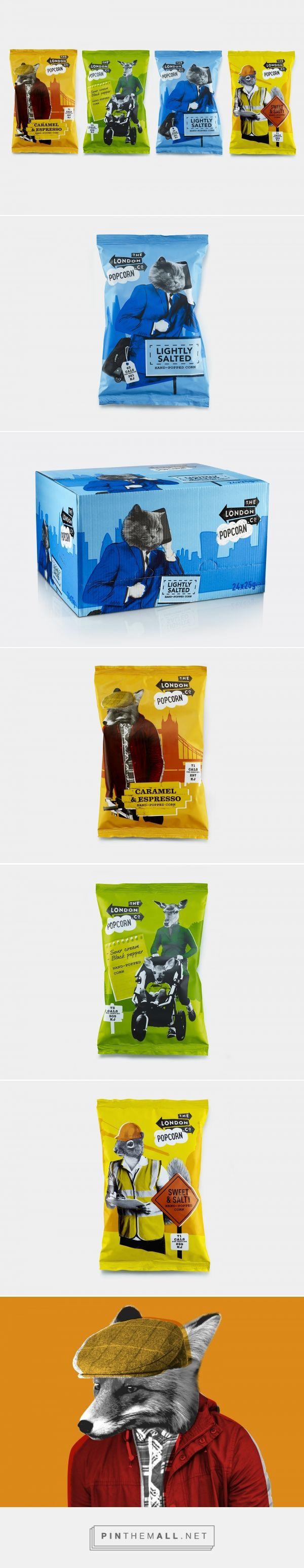 London Popcorn Co. - Packaging of the World - Creative Package Design Gallery - http://www.packagingoftheworld.com/2017/01/london-popcorn-co.html