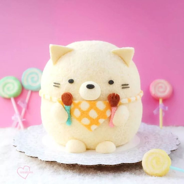Cake is cuter than plush toys chiffon cake cute baking