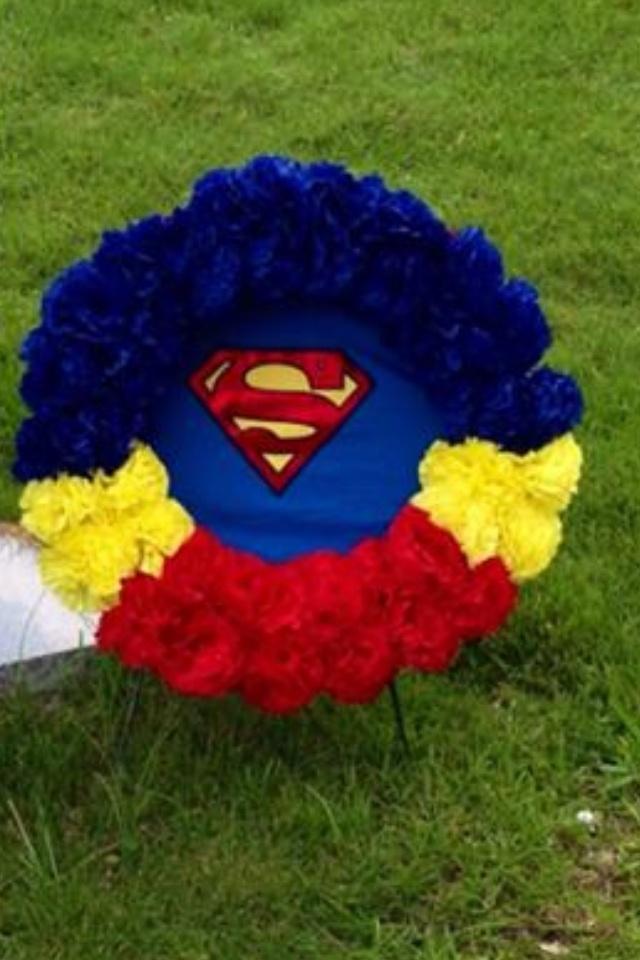 Classroom Gift Ideas For Teacher ~ Superman silk flower wreath crafts pinterest