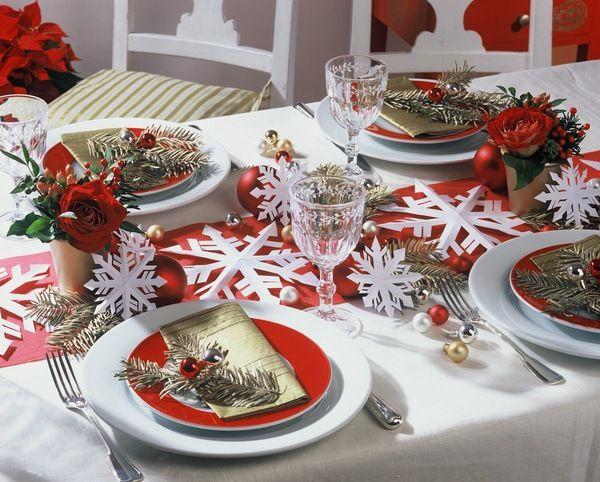 Новогодняя сервировка стола Сад Романтики, сад любвиСад Романтики, сад любви
