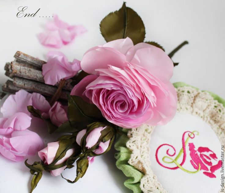 Мастер-класс: роза из тафты «100 лепестков» - Ярмарка Мастеров - ручная работа, handmade