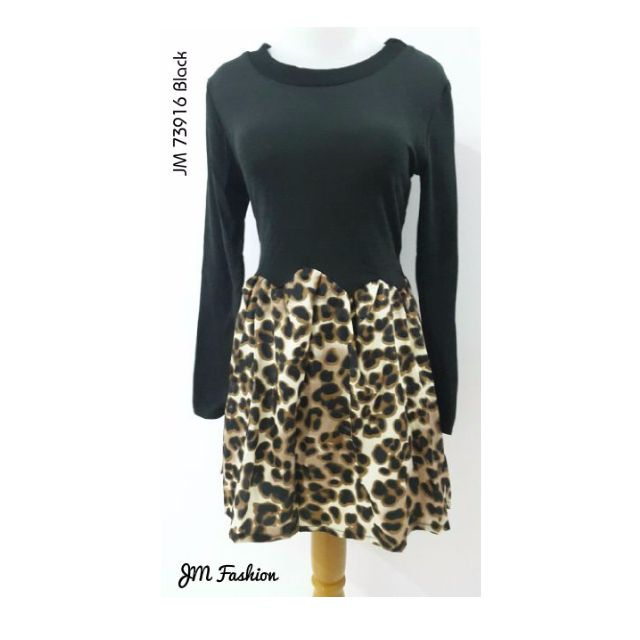 Leopard Print Dress Long Sleeve