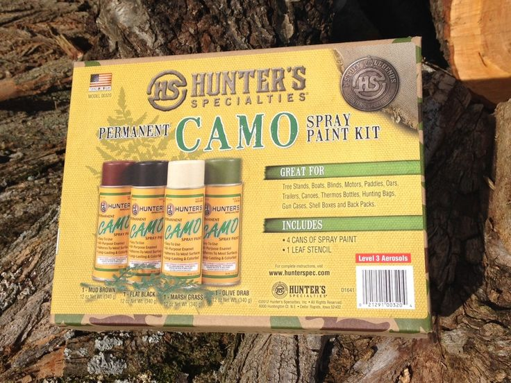 Hunter's Specialties Permanent Camo Spray Paint Kit - Only ships to the Continental US
