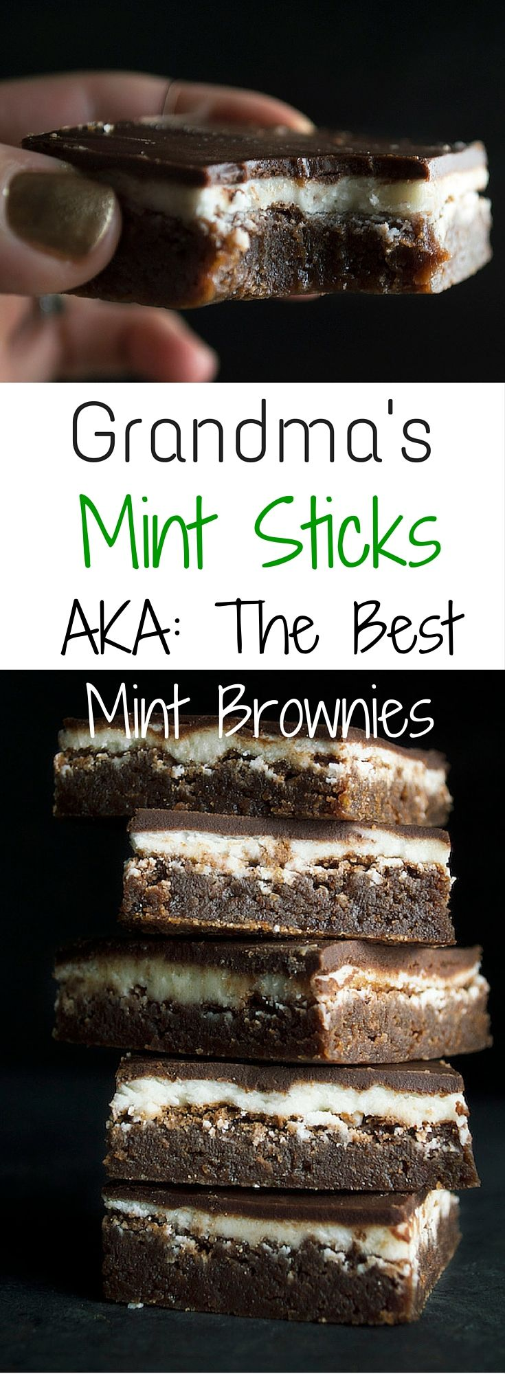 These mint brownies are famous! They are so delicious you will never be able to eat any other mint brownies.