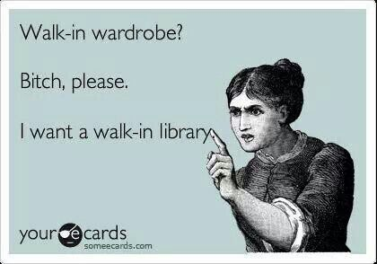 I want a walk-in library with comfy chairs, a few windows with window seats, and just enough soft lighting to be able to read and not notice when the day gives way to night.