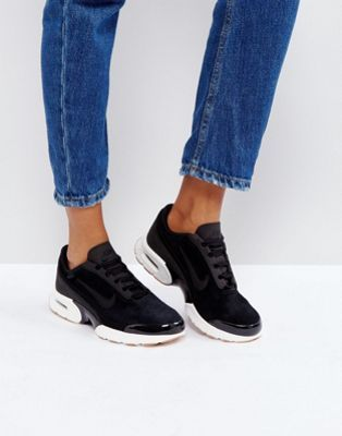 Nike Air Max Jewell Suede Trainers In Black