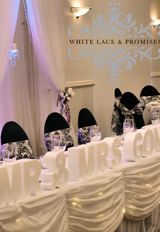 Wedding party table styling by White Lace and Promises