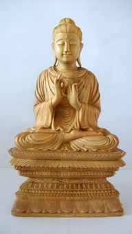 Buddha carved from sandalwood