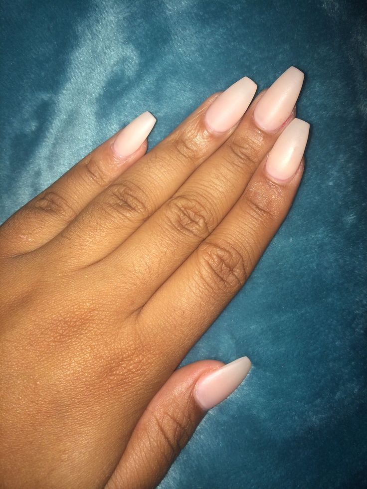 Matte nude coffin nails | Claws | Coffin Nails, Nails ...