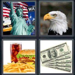 4 fotos 1 palabra estatua de la libertad aguila - Pulsa sobre la foto para ver la respuesta