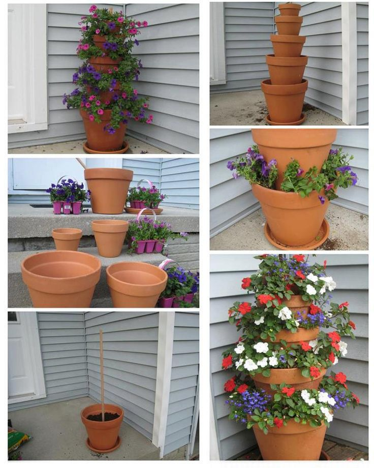 Similar to the tilted one. I think that some piping as spacers between the pots would help to not take up so much room in the pot below. ~ Sheila