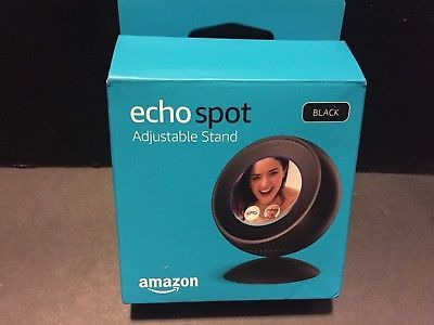 ECHO SPOT ADJUSTABLE STAND BLACK Tilt Feature Magentic Attachement New in Box, Shipping FREE, Item location Winslow,AR,USA (  Binding - Accessory, Color - Black, ProductTypeName - DIGITAL_DEVICE_3_ACCESSORY, Type - Magnetic Stand, MPN - 19530     )