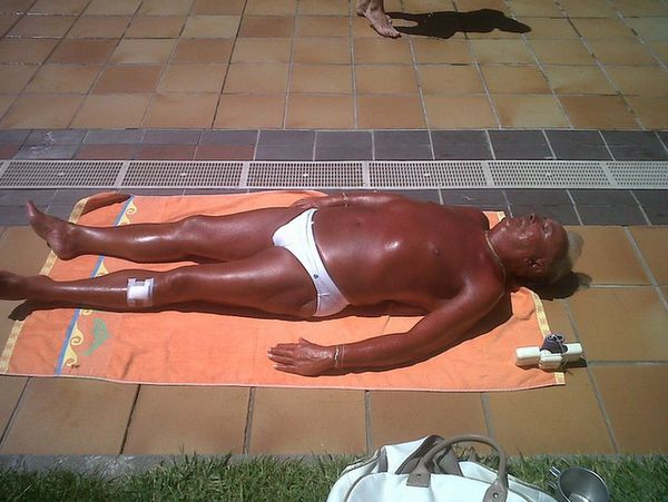 Knowing when to stop tanning - FAIL