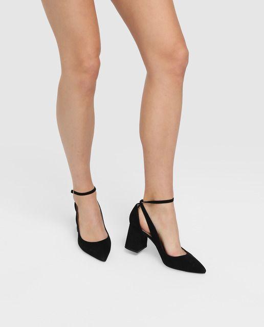 449b056c830 Zapatos de salón de mujer Zendra Basic en ante negro