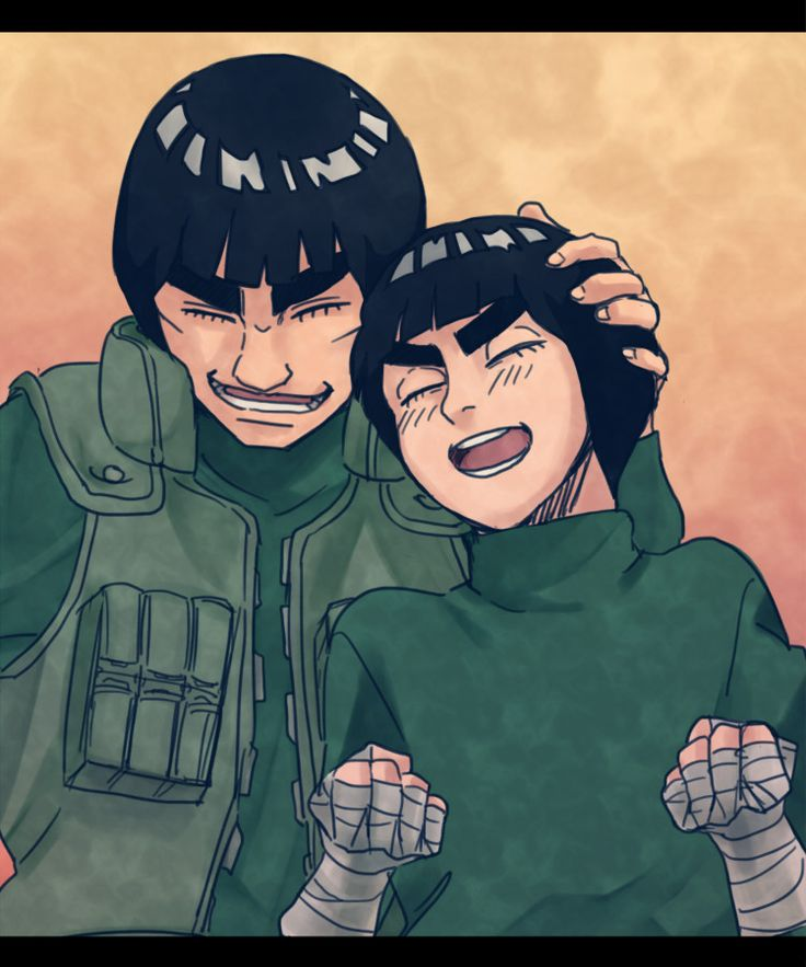 Maito Gai and Rock Lee