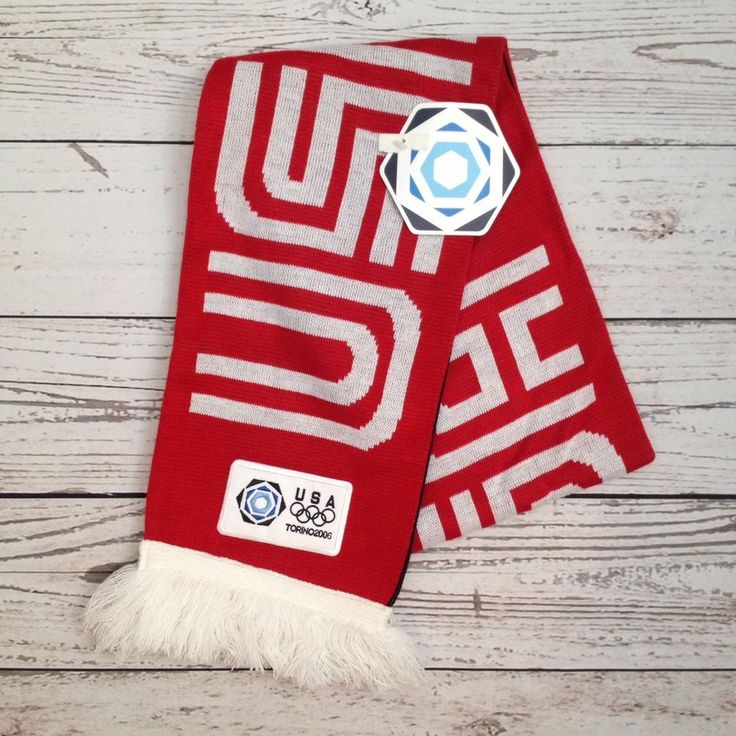 NWT Team USA 2006 Torino Italy Winter Olympics Scarf Roots Official Product #Roots #USA