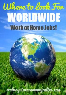 Are you looking for a work from home job outside the United States? Here is a page full of resources to help you find an international work from home job.