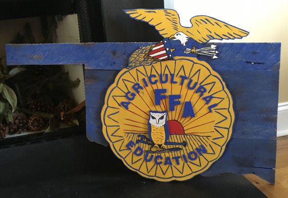 Hand Painted FFA Emblem Oklahoma State Pallet Sign