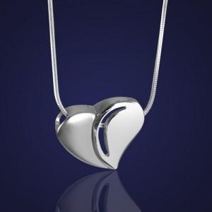 Biżuteria: Serduszko srebrne - dla ukochanej osoby. - AnKa Biżuteria Srebrna: wisiorki, kolczyki, komplety, obrazki srebrne