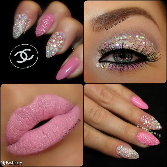 Pink For Prom Nail Ideas: 142 Best Pink Nail Designs Images On Pinterest