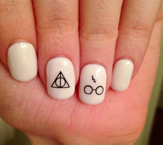 Harry Potter Symbols Nail Decals by PaipurNails on Etsy