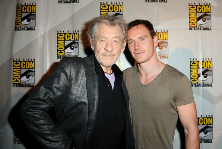 Ian McKellen and Michael Fassbender (Magneto & Magneto) at event of X-Men: Days of Future Past