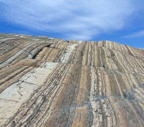 2-billion-year-old sedimentary rocks outside Sanikilauq, Nunavut