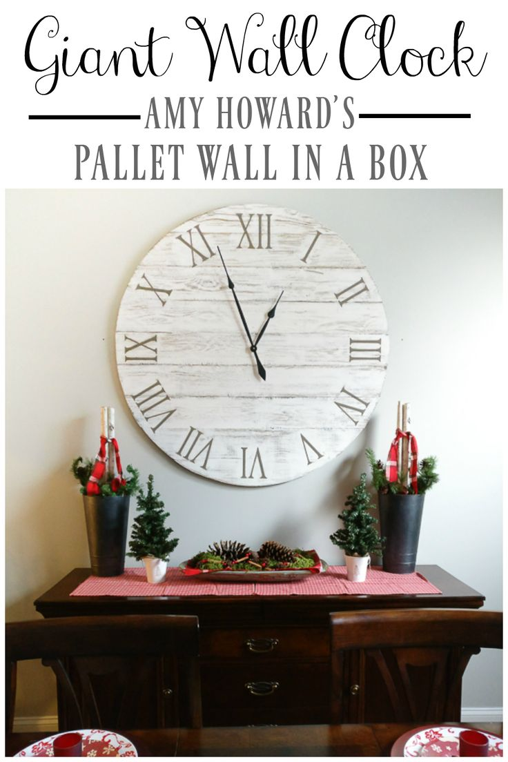 Best 25 giant wall clock ideas on pinterest huge clock big pallet wall in a box giant wall clock amipublicfo Images