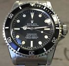 VINTAGE ROLEX SUBMARINER 5512 BLACK DIAL/BEZEL POINTED CROWN GUARD CREAMY PATINA