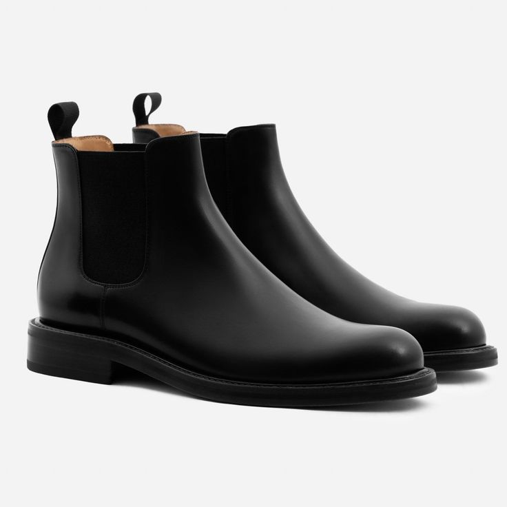 Preston Chelsea Boot - Calfskin Leather - Black
