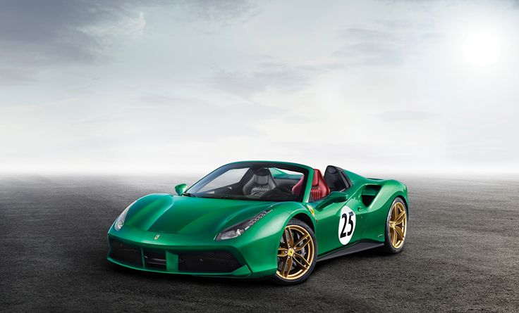 Ferrari 2017-18 488 Spider The Green Jewel Verde Roadster Carros