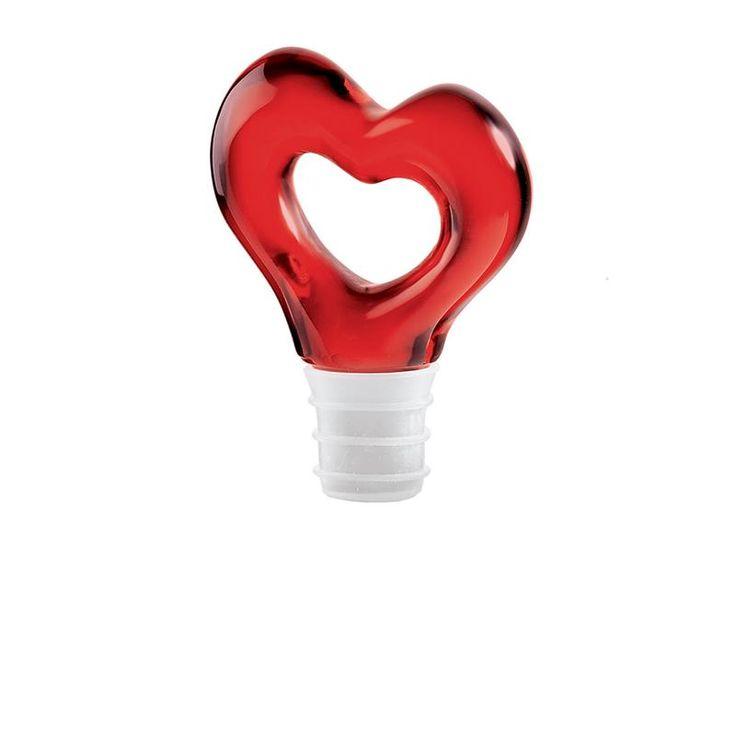 Tappo per VINO serie LOVE Rosso | Guzzini | Stilcasa.Net: bomboniere