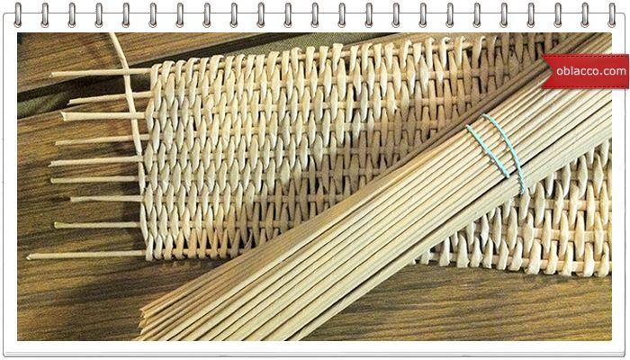 Узор ромбы. Плетение из бумажных трубочек