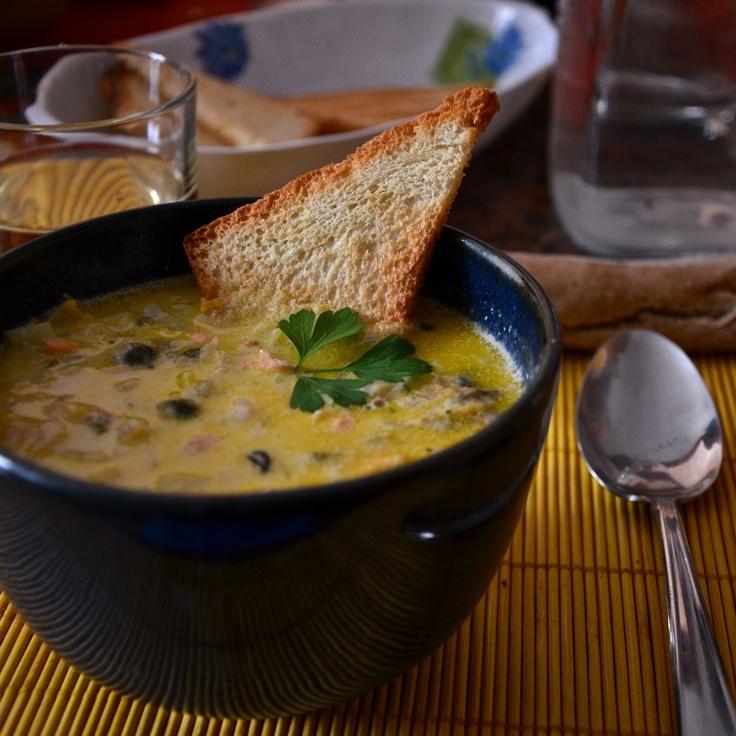 Seafood Chowder.  A typical Irish soup.
