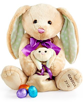 146 best easter holiday guide images on pinterest baby bunnies godiva chocolatier plush easter bunny and bag of chocolates gourmet food gifts for the home macys negle Choice Image