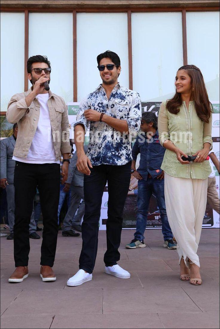 Alia Bhatt, Sidharth Malhotra and Fawad Khan promote #KapoorAndSons in Ahmedabad. #Bollywood #Fashion #Style #Beauty #Hot #Handsome
