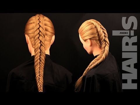 How to do an inverted fishtail braid hairstyle - video tutorial (How-to) Hair's How. - YouTube
