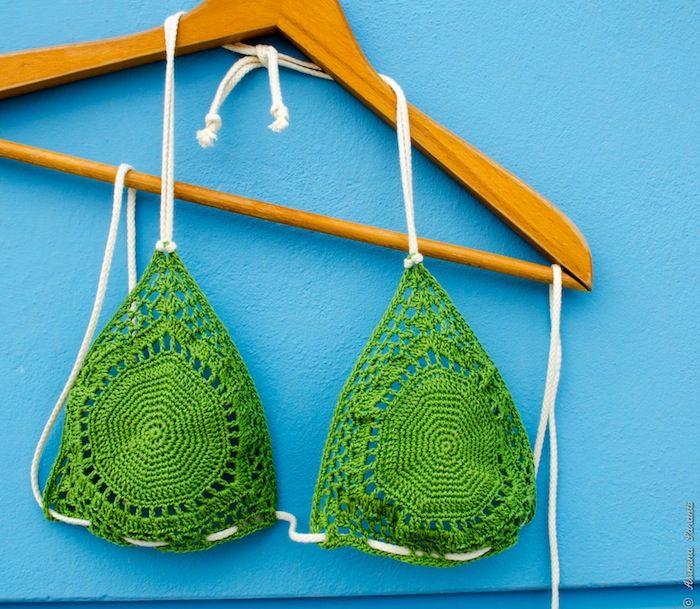 Lace Swimsuit Top - Crochet Bikini Bra Pattern - Über den Traum - 2.99 €
