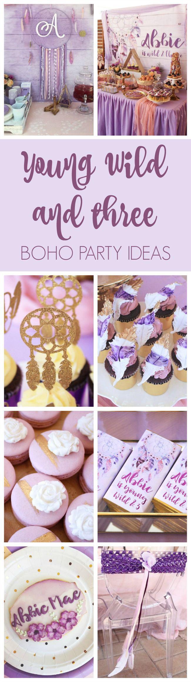 Boho Wild and Three Birthday Party   Pretty My Party