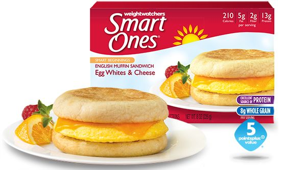 English Muffin Sandwich with egg whites and cheese.