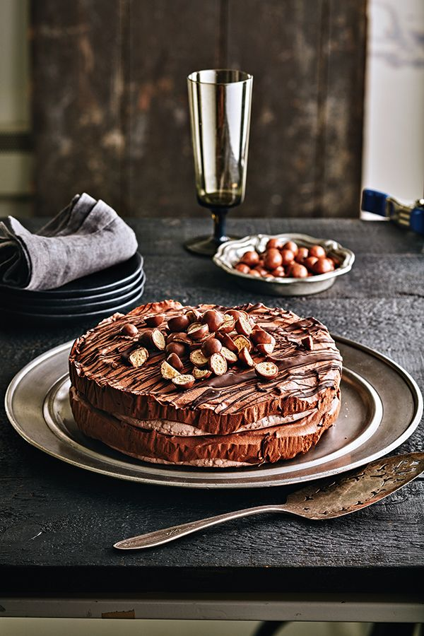 Malt Chocolate Mousse Cake