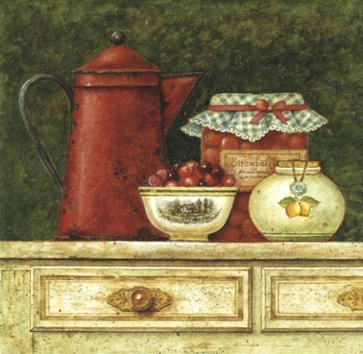 Живопись в картинках кухни