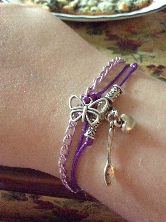 Skinny 3 strand Fibro/Lupus Stacking Charm by KDSerenityCreations. Fun charm bracelet-light weight too! #kdserenity