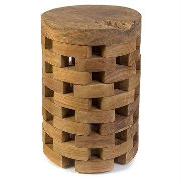 Tawon Solid Teak Timber Stool